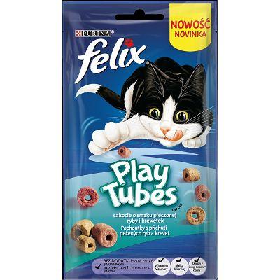 Felix Play Tubes poslastica za mačke sa okusom pečene ribe i kozica 50g