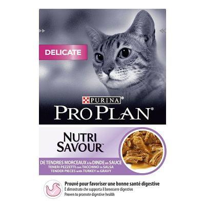 Pro Plan Nutri Savour Delicate, hrana za mačke sa puretinom u umaku, 85g