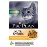 Pro Plan Nutri Savour Sterilized, hrana za mačke sa piletinom u umaku, 85g